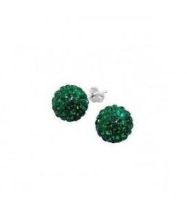 Méregzöld kristályos shamballa fülbevaló
