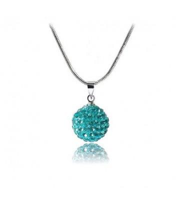 ékszer webshop Shamballa nyaklánc türkiz kristályokkal