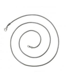 Sűrű láncszemes acél kígyó nyaklánc (55 cm - 2 mm)