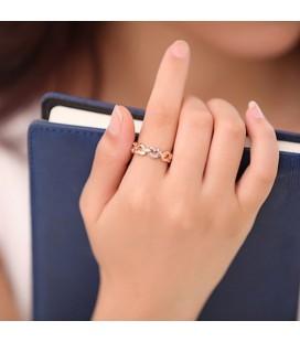 Apró köves szív gyűrű - Kék