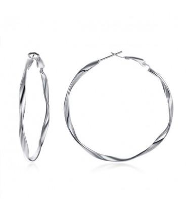 Basic nemesacél karika fülbevaló (5 cm)