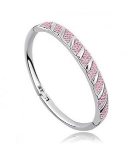 Rózsaszín kristályos karperec