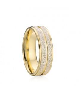 Csillogó szemcsés, férfi nemesacél karikagyűrű
