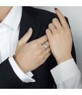 Vékony, csillogó szemcsés női nemesacél karikagyűrű