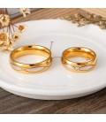 Cirkónia köves női nemesacél karikagyűrű, hullám mintával