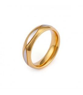 Férfi nemesacél karikagyűrű hullám mintával