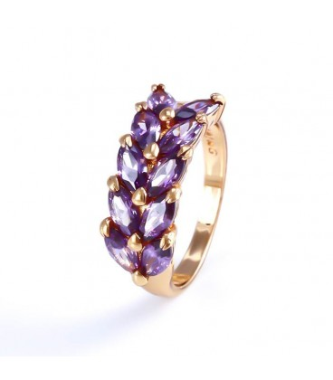 ékszer webshop Virágszirom, gold filled gyűrű
