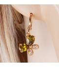 ékszer webshop Színes cirkónia köves pillangó fülbevaló - gold