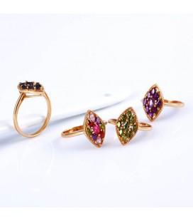 ékszer webshop Gold filled, színes cirkónia kövekkel kirakott