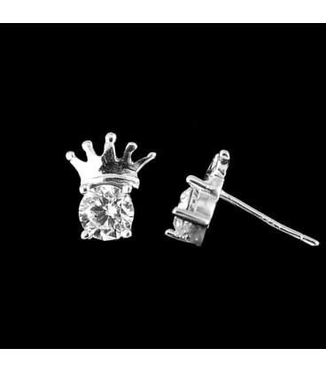 ékszer webshop Korona alakú ezüst fülbevaló
