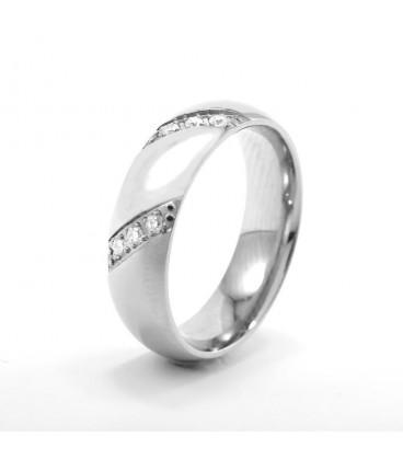 ékszer webshop Hófehér cirkónia kövekkel díszített, elegáns