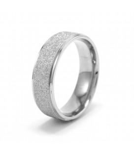 nemesacél gyűrű, Ezüst szemcsés nemesacél gyűrű