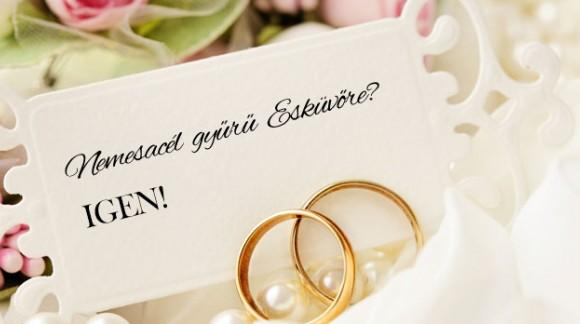 Nemesacél karikagyűrű esküvőre, avagy érvek mellette